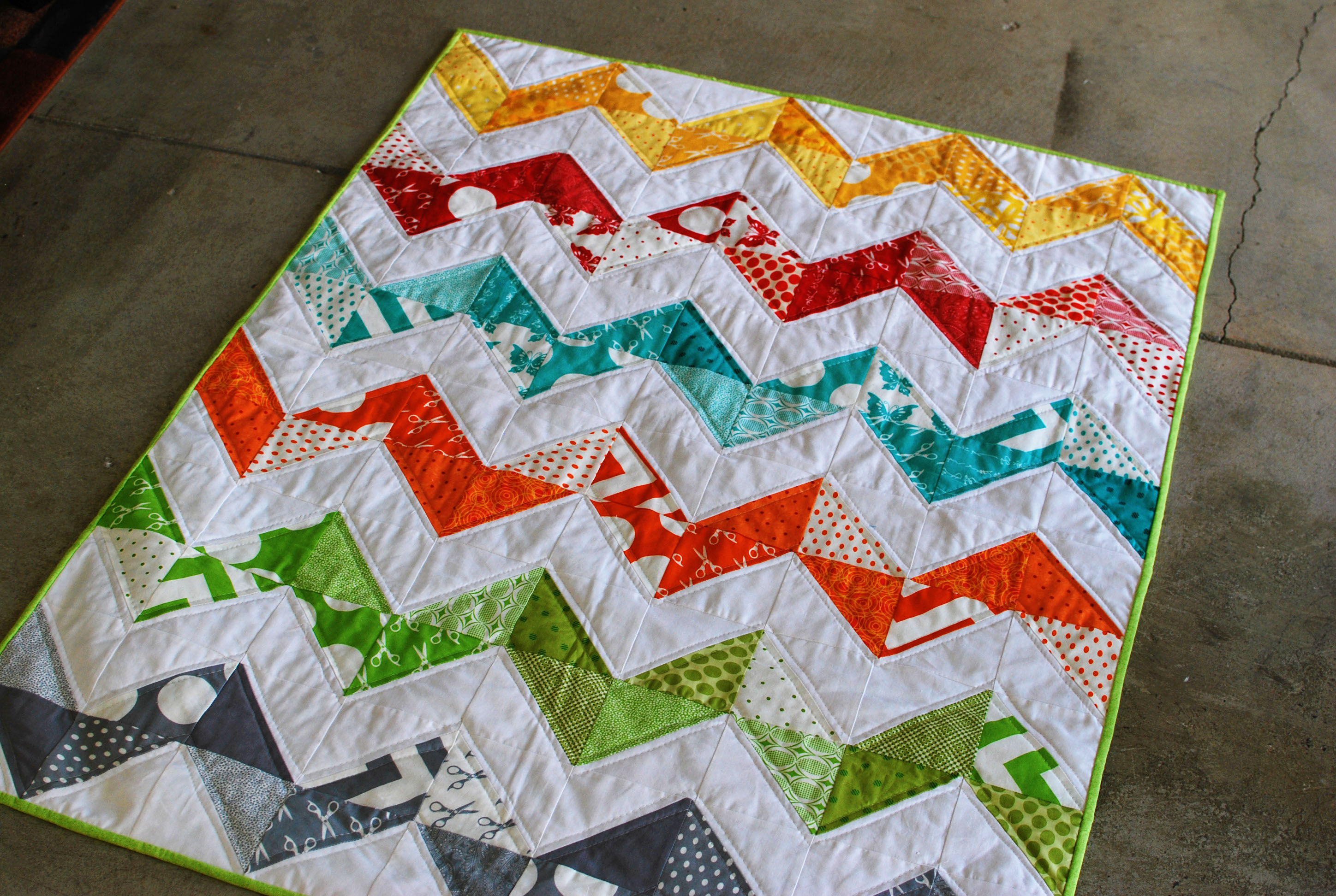 Rainbow Chevron Quilt - Dusty & Marlina : chevron quilt - Adamdwight.com