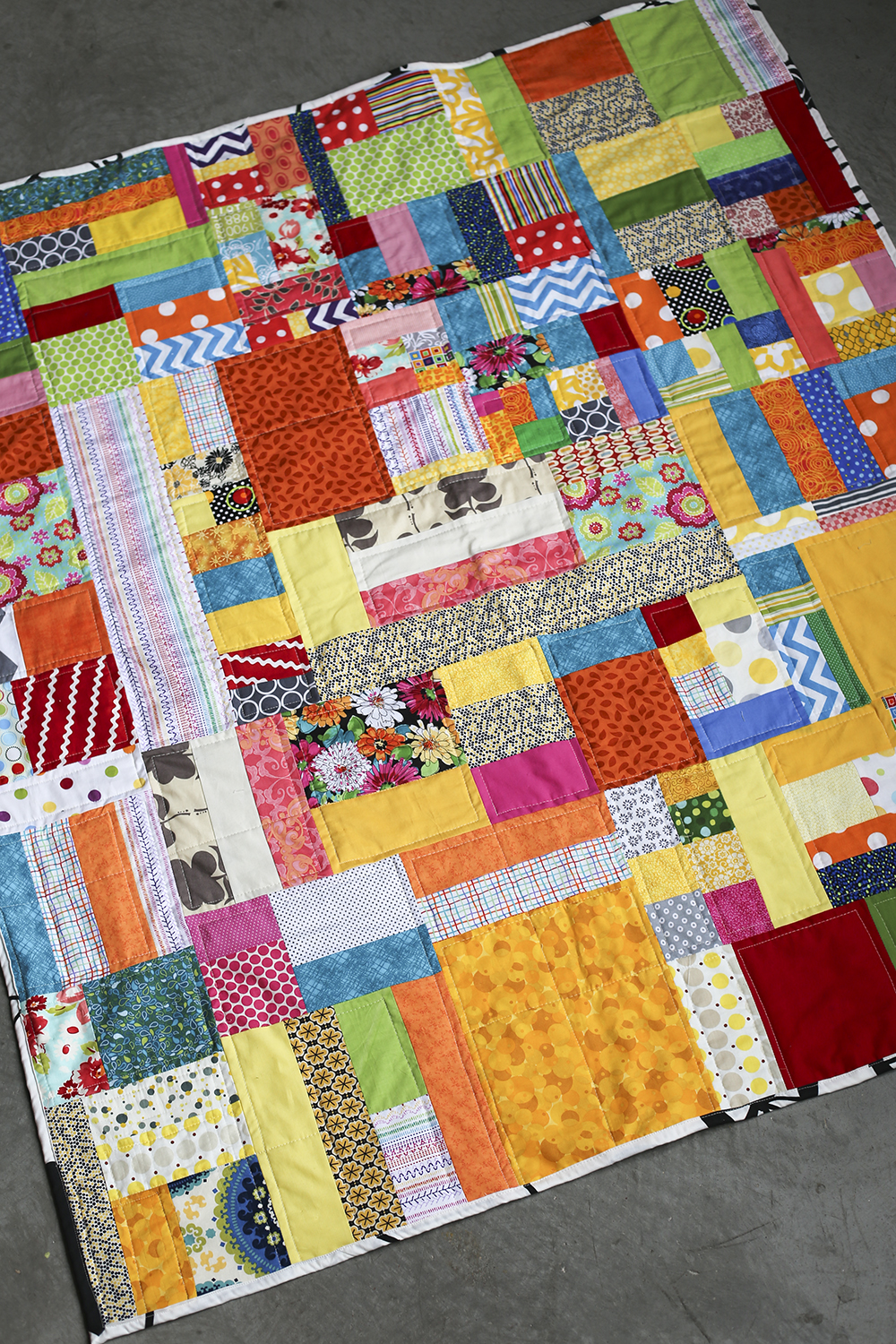 Quilts dusty marlina for Scrap quilt
